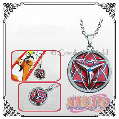 Anime Naruto Manga Sasuke Uchiha Eternal Crazy Mangekyou Sharingan Eye Necklace
