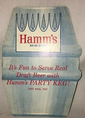 Hamm's Beer How to Tap a Keg Instruction 60's