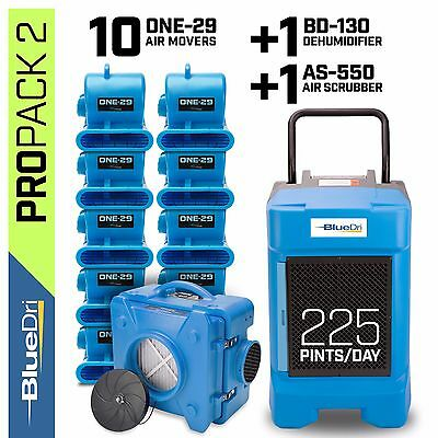 BlueDri ProPack 2, Water Damage Restoration Dehumidifier Air Mover Air Scrubber