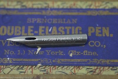 Spencerian Double-Elastic No.1 Nib, Ivison, Phinney & Co.Extra Fine Nib Lot of 2