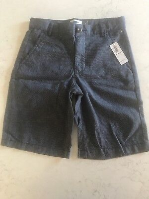 Boys Kids Old Navy Blue Denim Chambray Bermuda Shorts NEW Size 8
