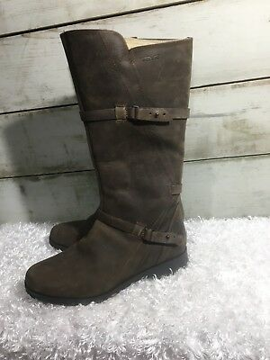 348a65c9e757ed TEVA DELAVINA BROWN Tall Leather Waterproof Womens Boots Size Us 8.5 ...