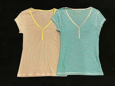 Lot of 2 Old Navy Women's Henley Shirts Size Large