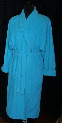 vintage chenille dressing gown bright turquoise blue vgvc Supertex ?