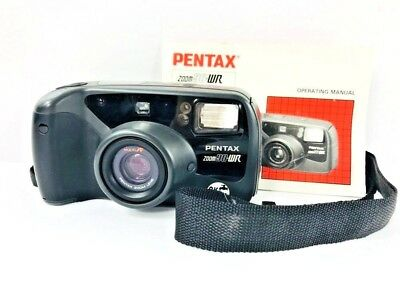 pentax zoom 90wr 35mm point shoot film camera manual 19 95 rh picclick com