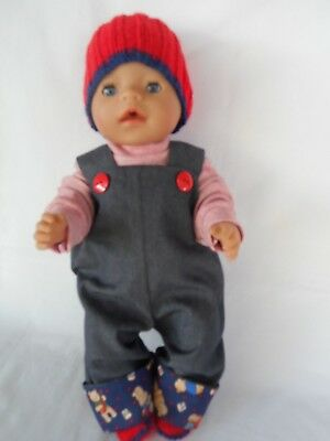 Handmade and hand knitted dolls clothes fit 40-43cm,17in Baby Born doll