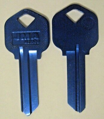 2 Blue Blank House Keys For 5 Pin Kwikset Lock Kw1 Can Be Punched To Your Code
