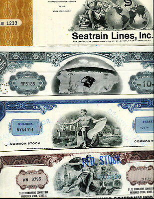 4 Different Stocks  Certificates #i