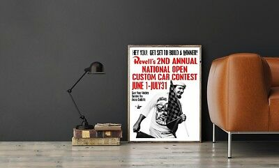 """Large Size 24""""x32"""" 1964 Model Car Contest Poster - 2nd Annual National Contest"""