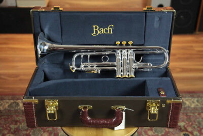 Bach Stradivarius 180 Silver Plate with Gold wash Bell & Gold Trim