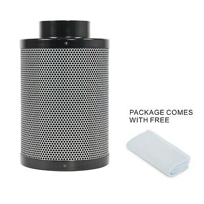 Hydroponics 4'' Activated Carbon Air Carbon Charcoal Filter Odor Control