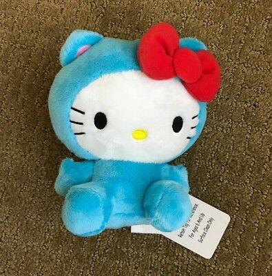 Hello Kitty 6 inch Plush in blue monster outfit