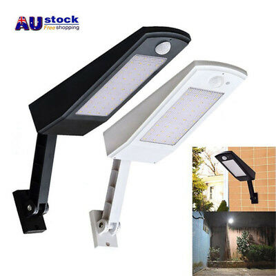 48-LED Solar Powered Dusk-to-Dawn Sensor Waterproof Outdoor Security Flood Light