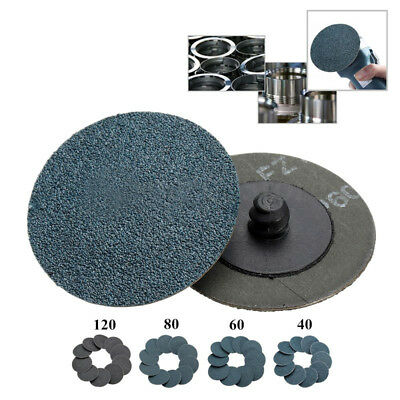 "10pcs 2"" Roloc Assorted 60 Grit T Quick Change Sanding Abrasive Discs Roll Lock"