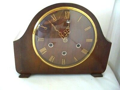 Vintage Art Deco 'Smiths' Mantel Clock with Westminster Chimes & silent mode-GWO
