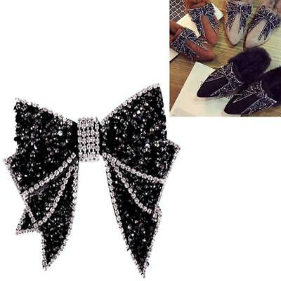 1Pair Vintage Style Rhinestone Crystal Bow-knot Shoes Clips Decoration DIY