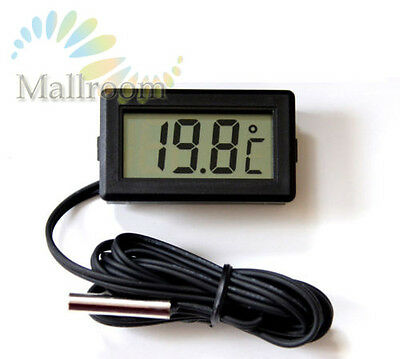 LCD Thermometer digital -50° bis  110° Digitalthermometer Temperaturmesser Black