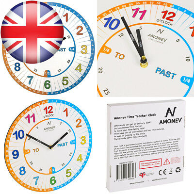 Amonev VS1 Time Teacher clock Children Wall Clock is a Easy to Read with...