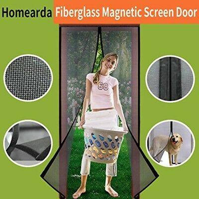 Magnetic Screen Door Mosquito Bug Fly Insect Net Removable Temporary Balcony New