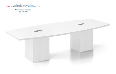 10 Foot Conference Table with Power Centers SQUARE CUBE LEGS White 5 More Colors