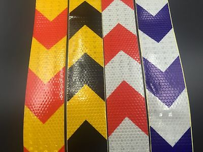 """Big arrow Reflective Safety Warning Conspicuity Tape Film Sticker 2""""1M"""