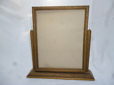 ANTIQUE PICTURE or MIRROR FRAME on STAND 28cm high  - good original condition