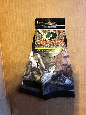 Mossy Oak Youth  sublimated no show Sock 1 Pair YLG shoe size 10.5 - 13.5