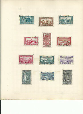 Morocco 1922-1933 3pages incl high denoms from an old collection good used