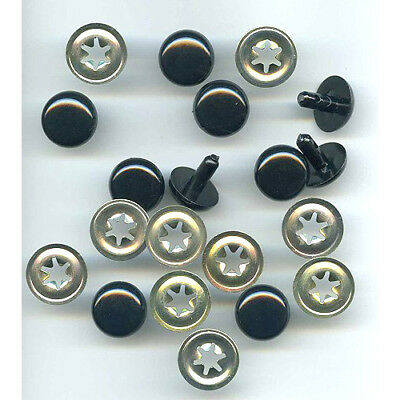 Safety Toy Eyes 16.5mm - Solid Black, pk of 5 prs