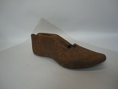 Vintage Metal Cast Iron Shoe Last Collectable D B6