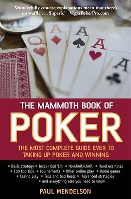 The Mammoth Book of Poker, Mendelson, Paul, New condition, Book