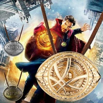Dr Doctor Strange Eye of Agamotto Pendant Chain Necklace Cosplay Vintage Jewelry