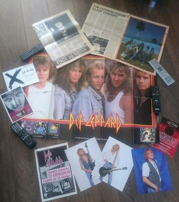 DEF LEPPARD Fan Club lot Photos promo poster rare flyers '83 French tour ad