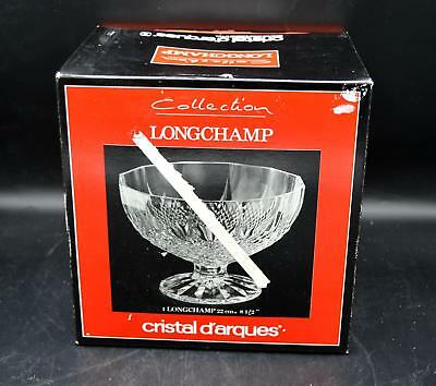 """Cristal D'Arques Longchamp 8 1/2"""" Lead Crystal Footed Bowl"""