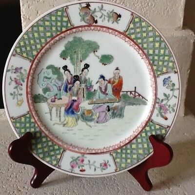 "10 1/2"" Hand painted Chinese plate"
