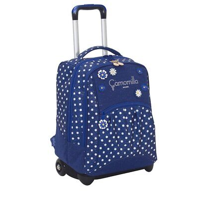 Trolley Big Camomilla Flowers & Dots Blu E Rosa