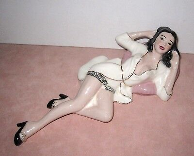 Vintage 1950 Porcelain Pin Up Girl Figurine by Lone Star Ceramics House, Lubbock