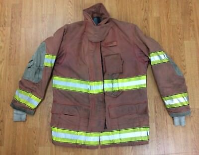 Firefighter Red Bunker Turnout Jacket 38 x 32 Globe