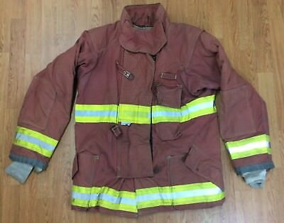Firefighter Red Bunker Turnout Jacket 46 x 33 Quest