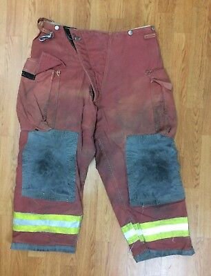 Woman's Firefighter Red Bunker Turnout Pants 16 x 25 Quest