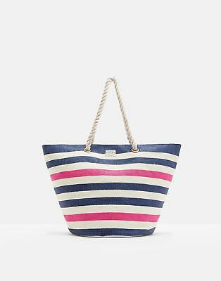 Joules Summer Beach Bag in French Navy Stripe in One Size