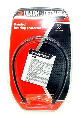 Black & Decker Banded Hearing Protector SNR 22dB