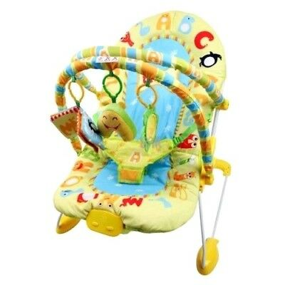 ABC Baby Bouncer Rocker Chair with Soothing Music and Vibration and Dangle Toys