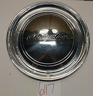 "1949 49 Chrysler All Model 15"" Hubcap Hub Cap Good Used Cr 49 Wc"