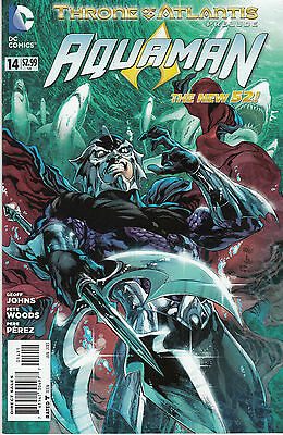 AQUAMAN 14...VF/NM...2013...New 52...Geoff Johns,Pete Woods...VVHTF Bargain!