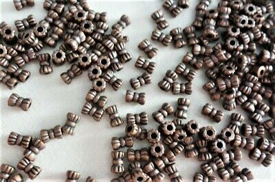50 Antique Copper Coloured 6mmx3mm Bow Tie Spacer Beads #sp3990 Jewellery Making