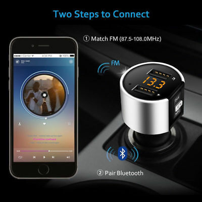KFZ Freisprechanlage Auto Bluetooth FM Transmitter MP3 Musik Player USB Stick SD