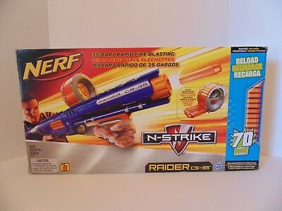 New Open Box Nerf N-Strike Raider Rapid Fire CS-35  35 Dart Drum Magazine