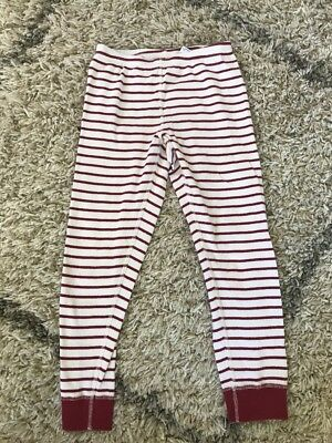 Size 120 6-7 Pajama Bottoms Girls Hanna Andersson Red White Striped