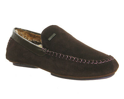 Mens Ted Baker Brown Suede Slip On Casual Shoes UK Size 11 *Ex Display